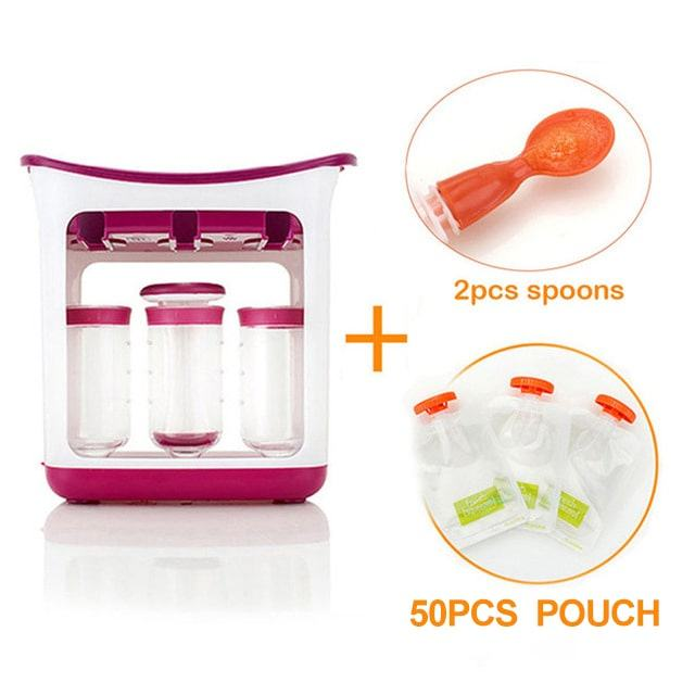 Squeeze Station Reusable Organic Baby Food Feeding Pouches